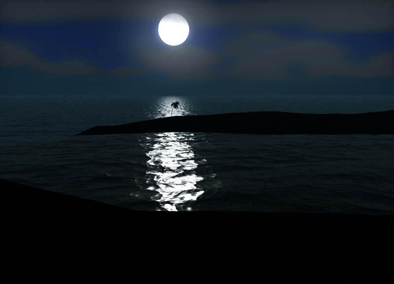 Lua cheia em Cabo Sant'Agostino